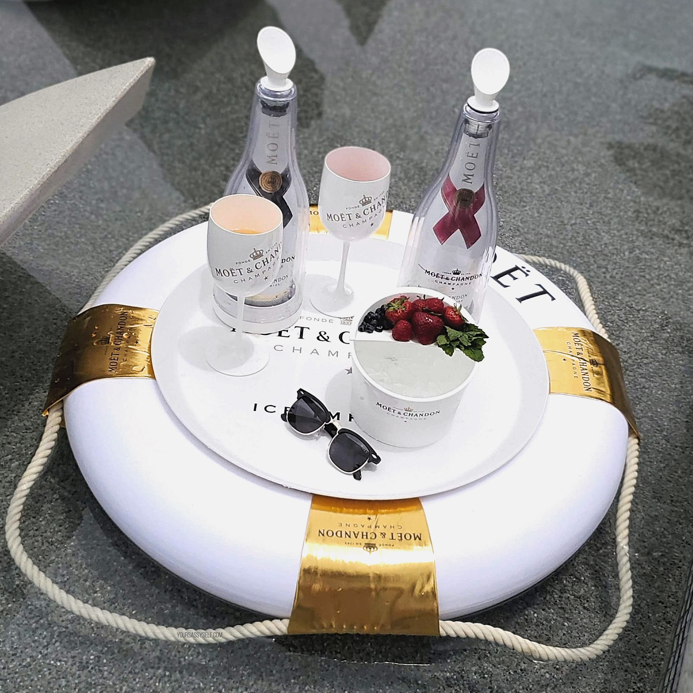 Moët Ice Impérial poolside - yoursassyself.com