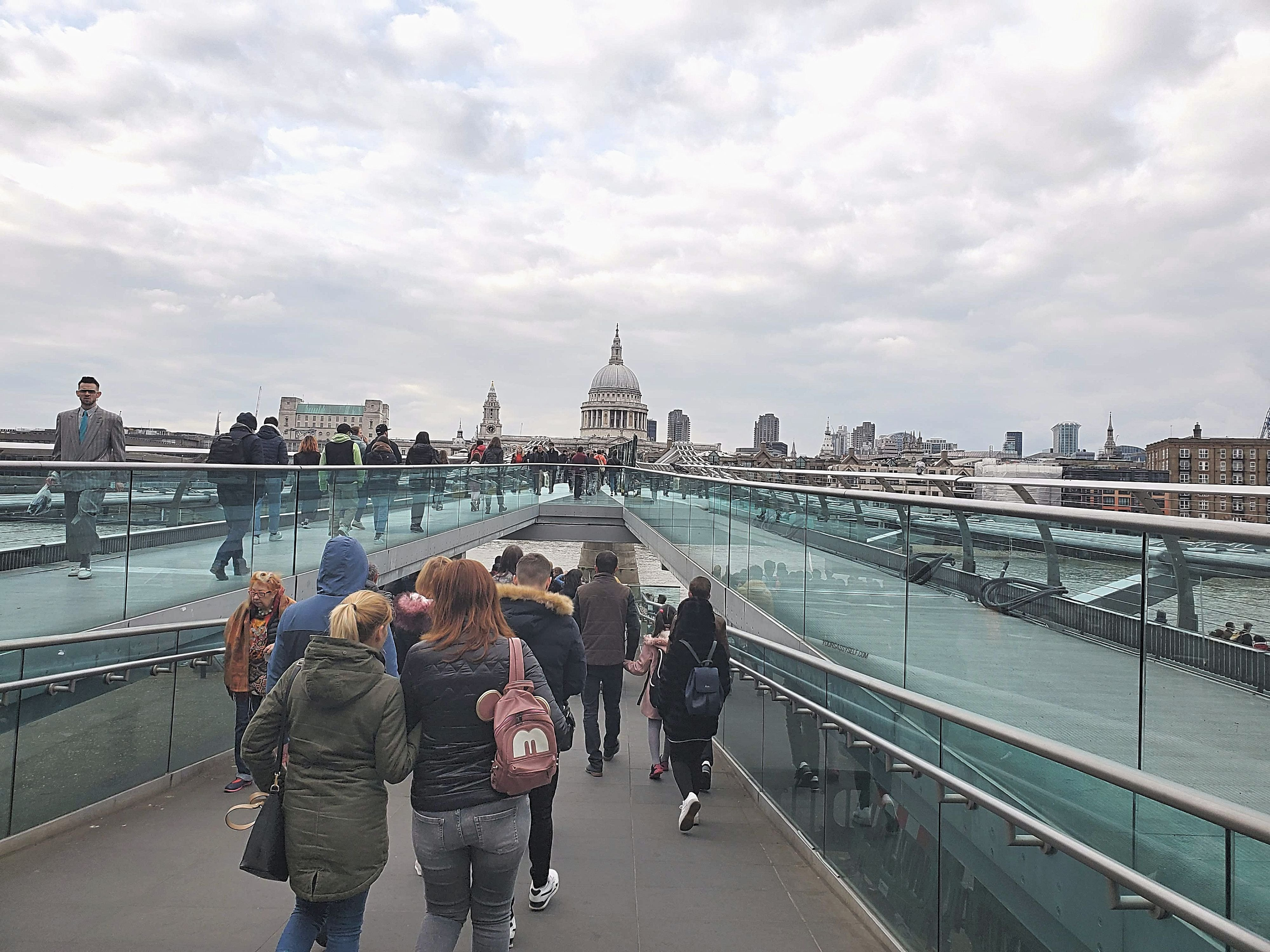 View of St Paul's Cathedral from Millennium Bridge - yoursassyself.com