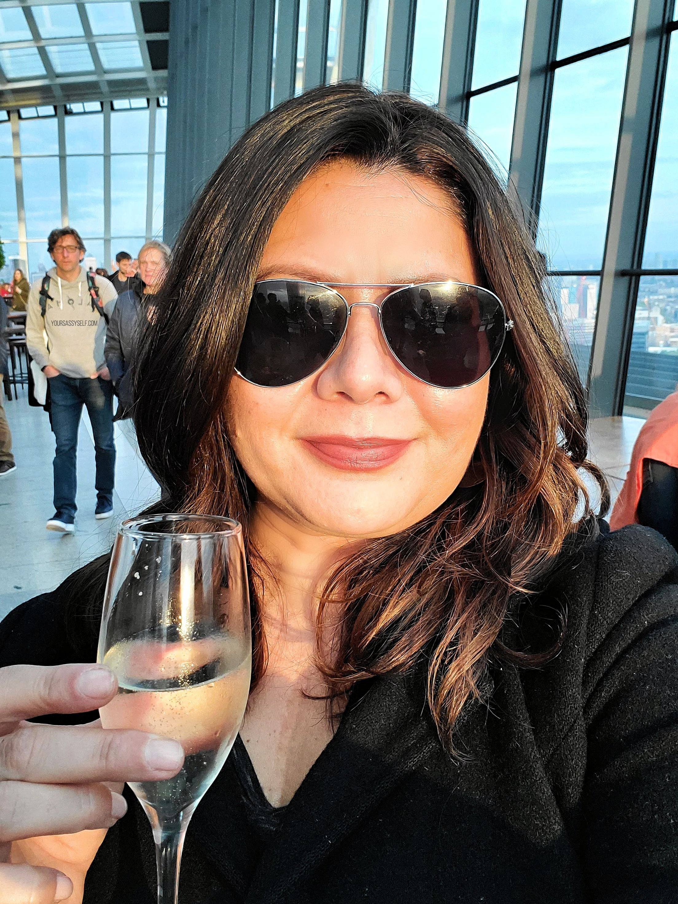 Your Sassy Self Enjoying Cocktails at Sky Garden - yoursassyself.com