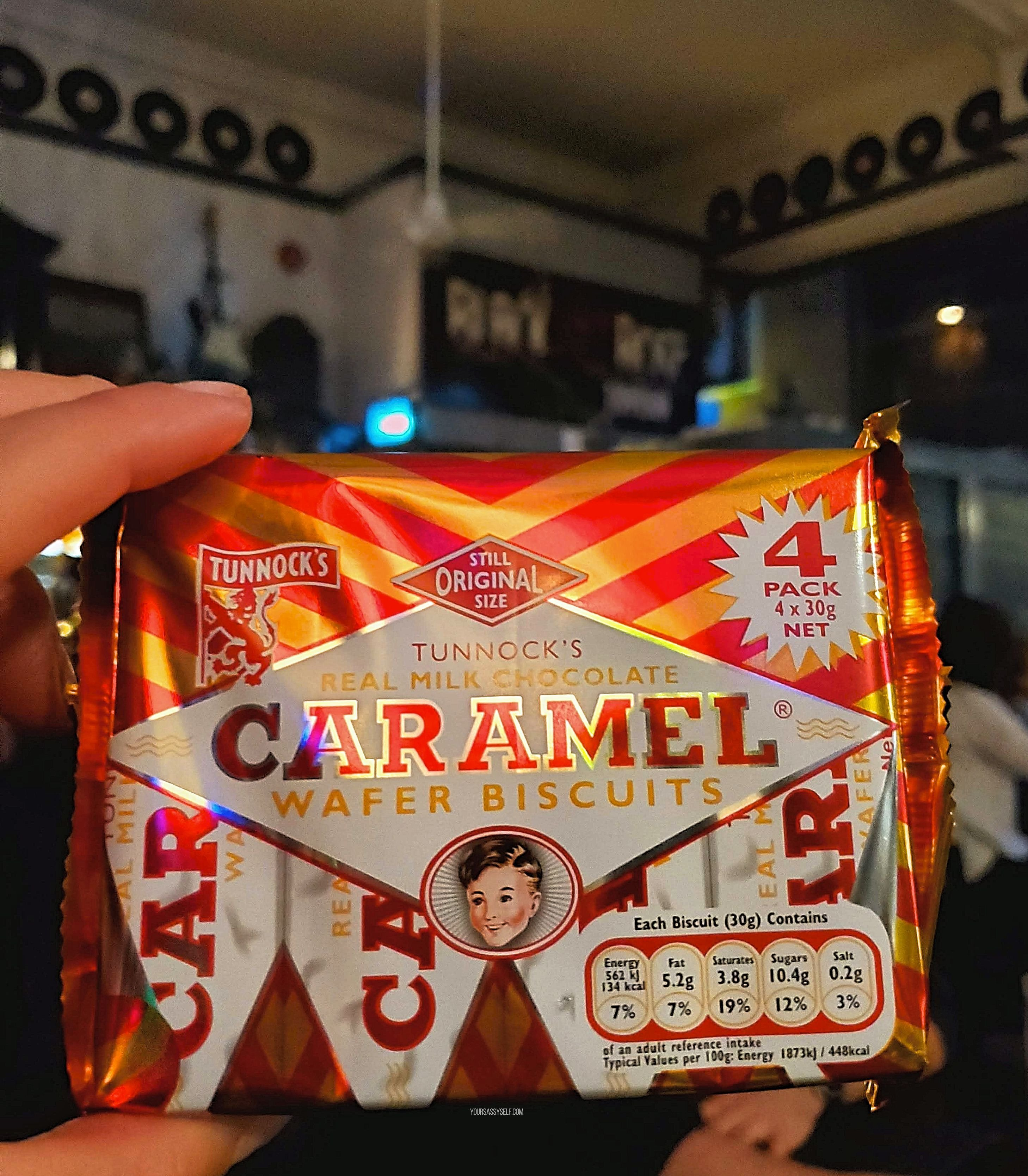 Caramel Wafer Biscuits - yoursassyself.com