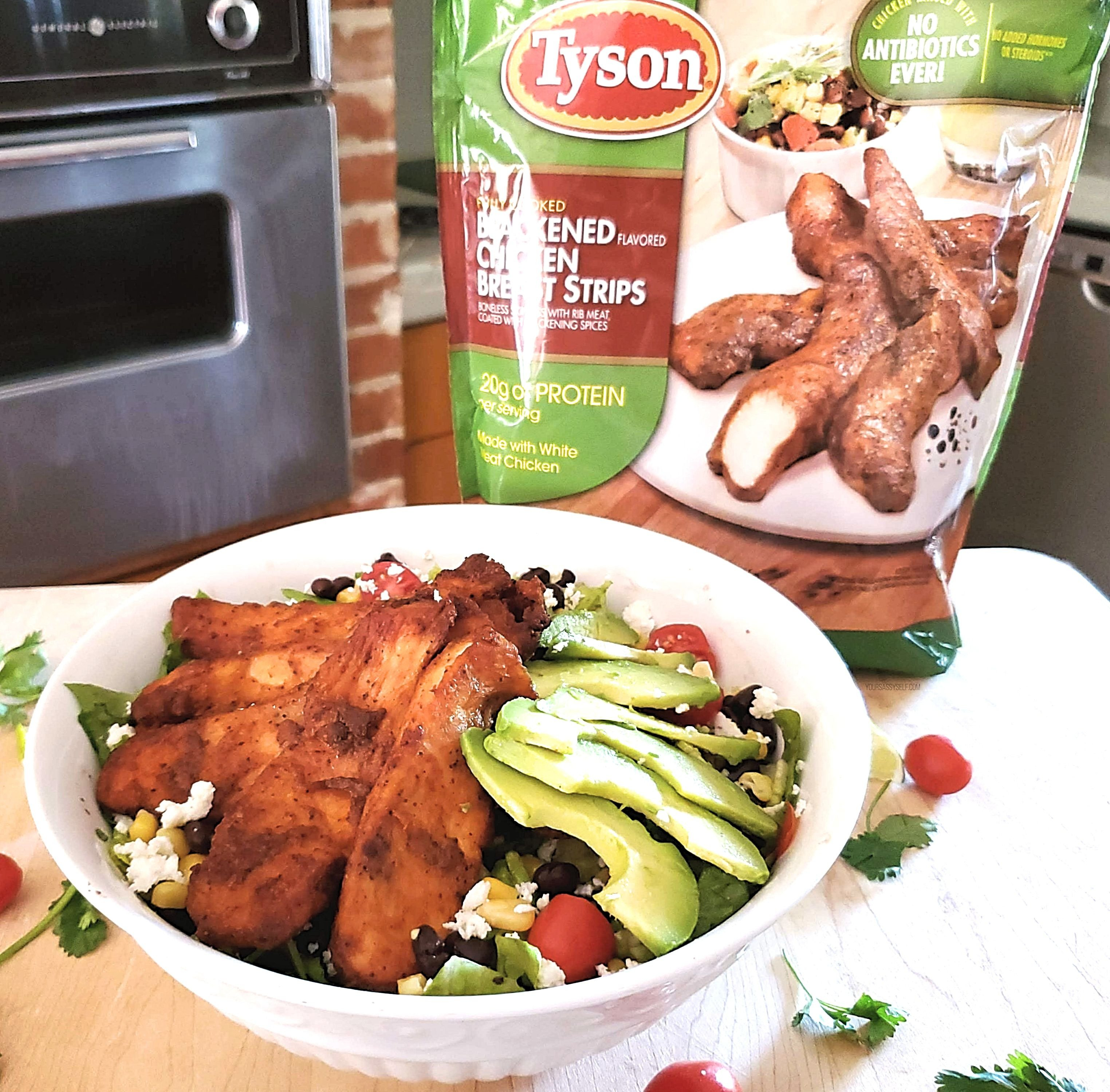 Tyson® Blackened Chicken Strips Fiesta Salad - yoursassyself.com