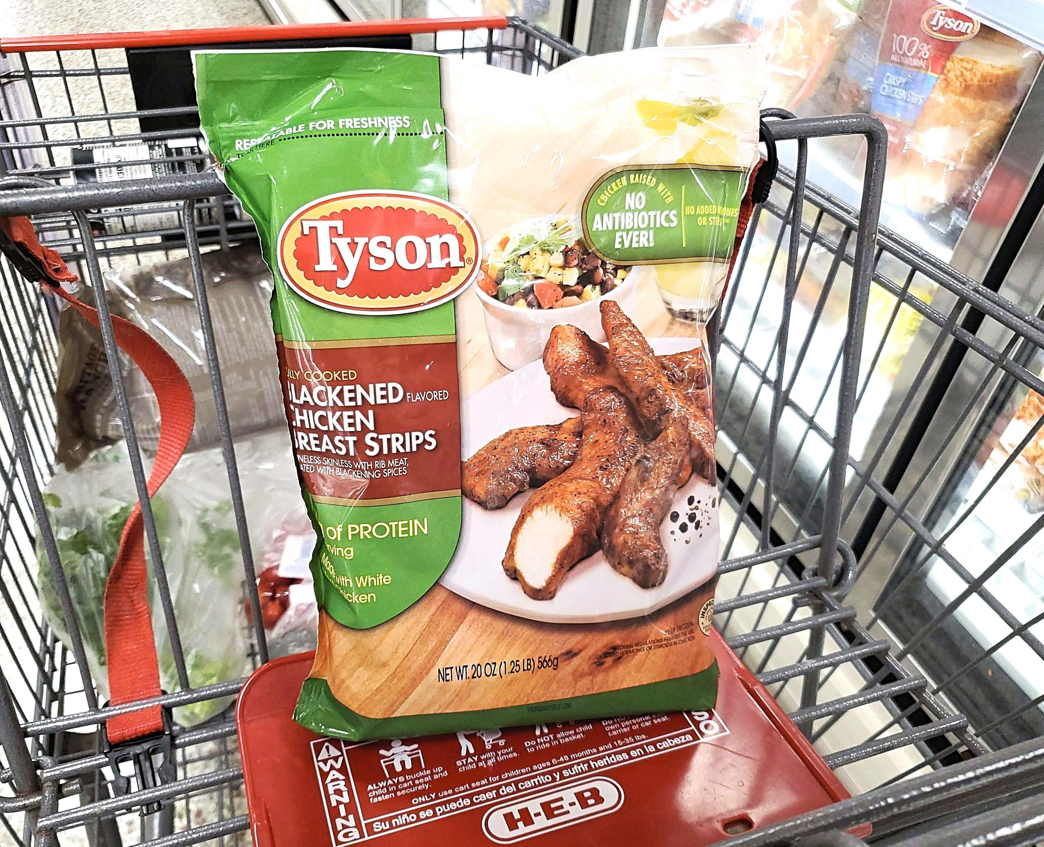 Tyson® Blackened Chicken Strips at HEB - yoursassyself.com