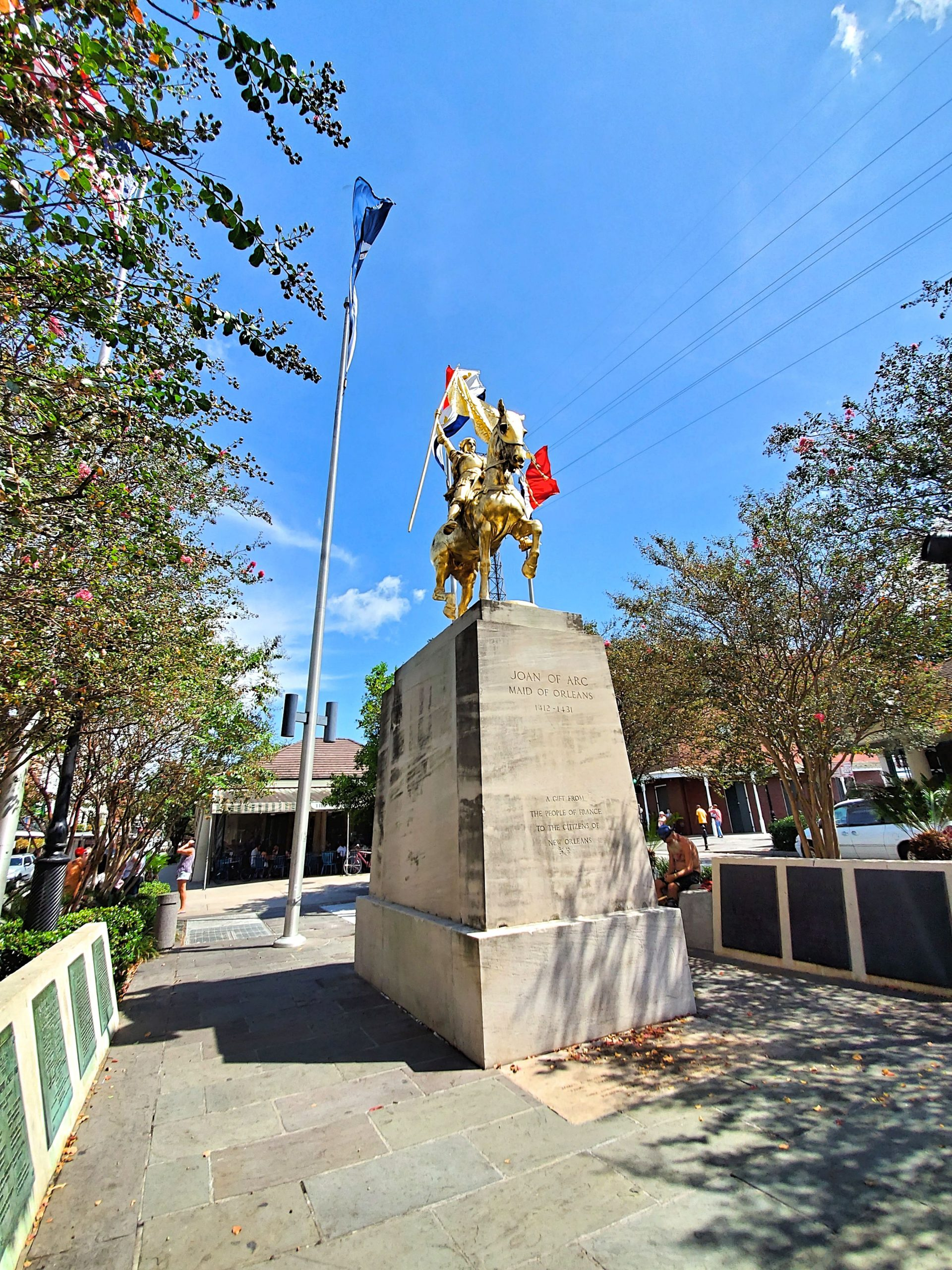Joan of Arc statue at French Quarter - yoursassyself.com