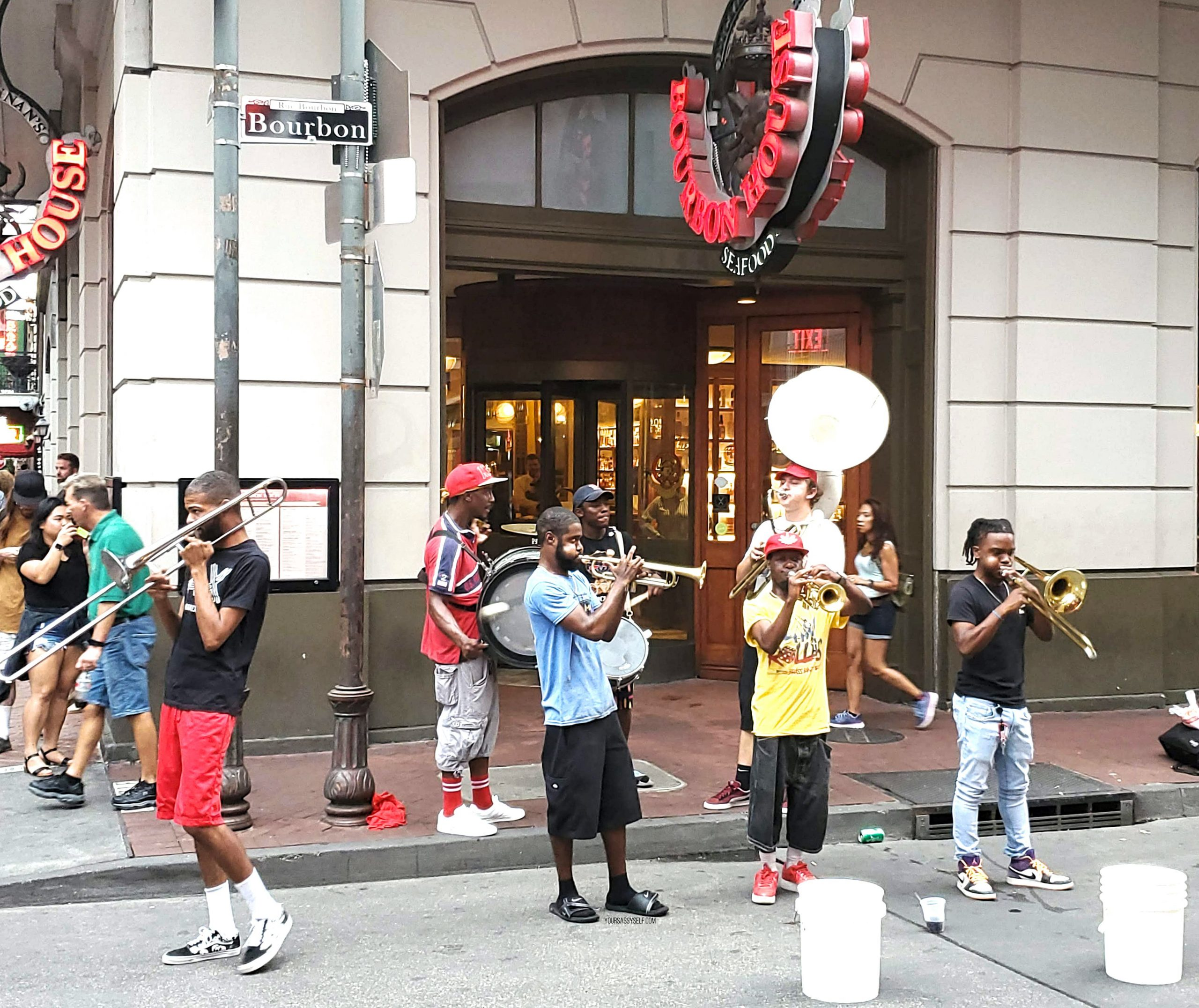 Musicians on Bourbon Street - yoursassyself.com