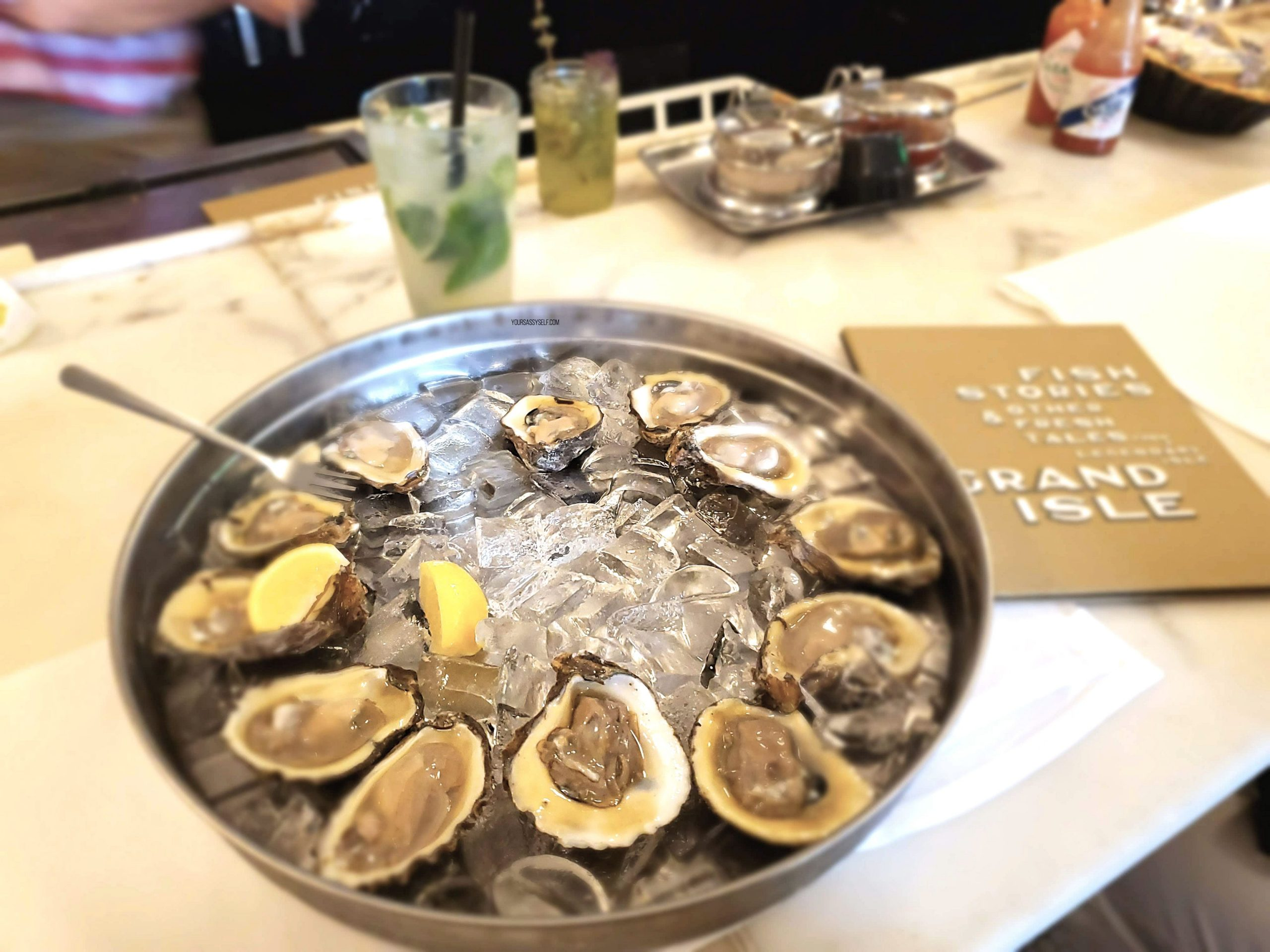 Oysters on the half shell - yoursassyself.com